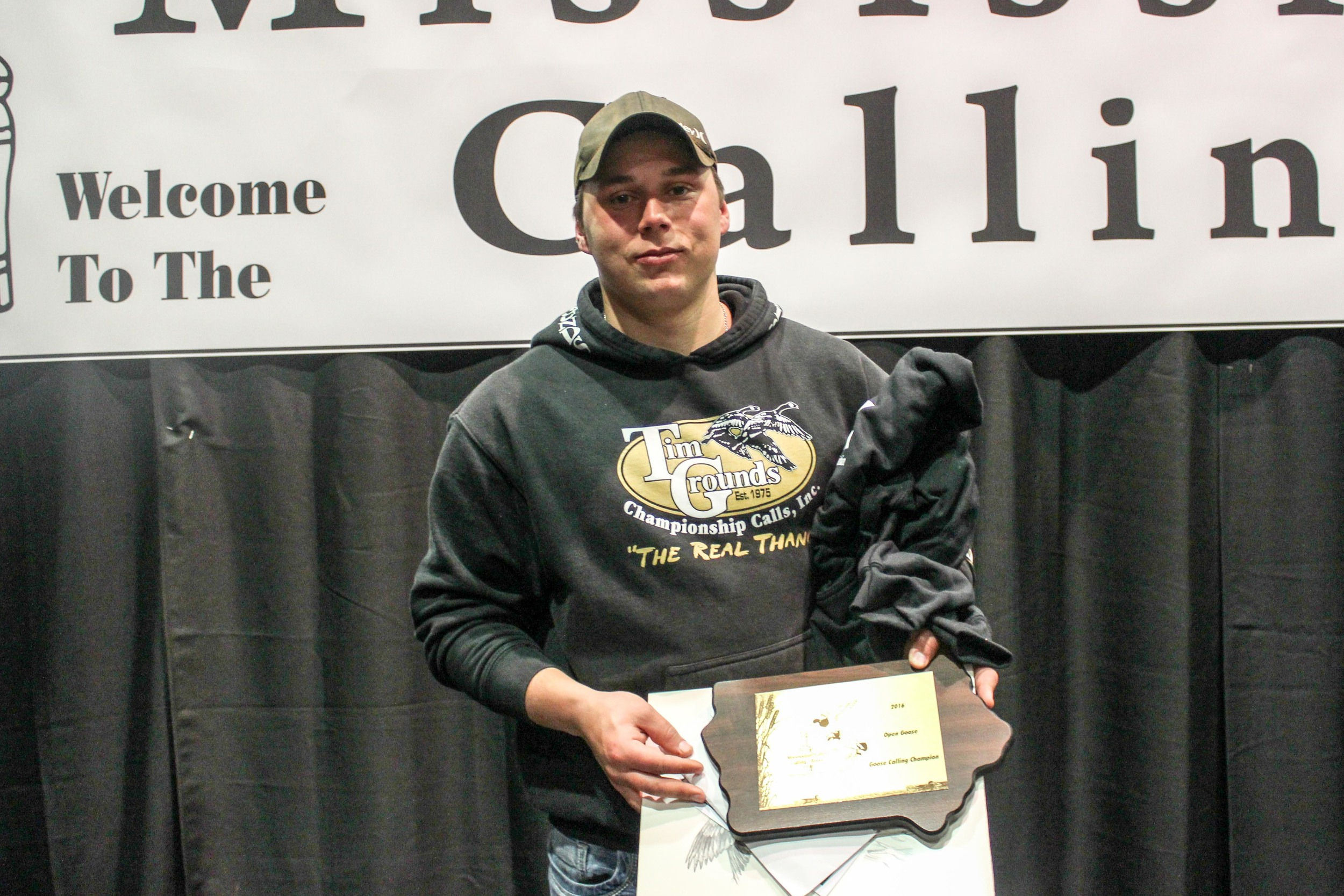 Robbie Iverson: 2016 Mississippi Valley Open Goose Calling Champion