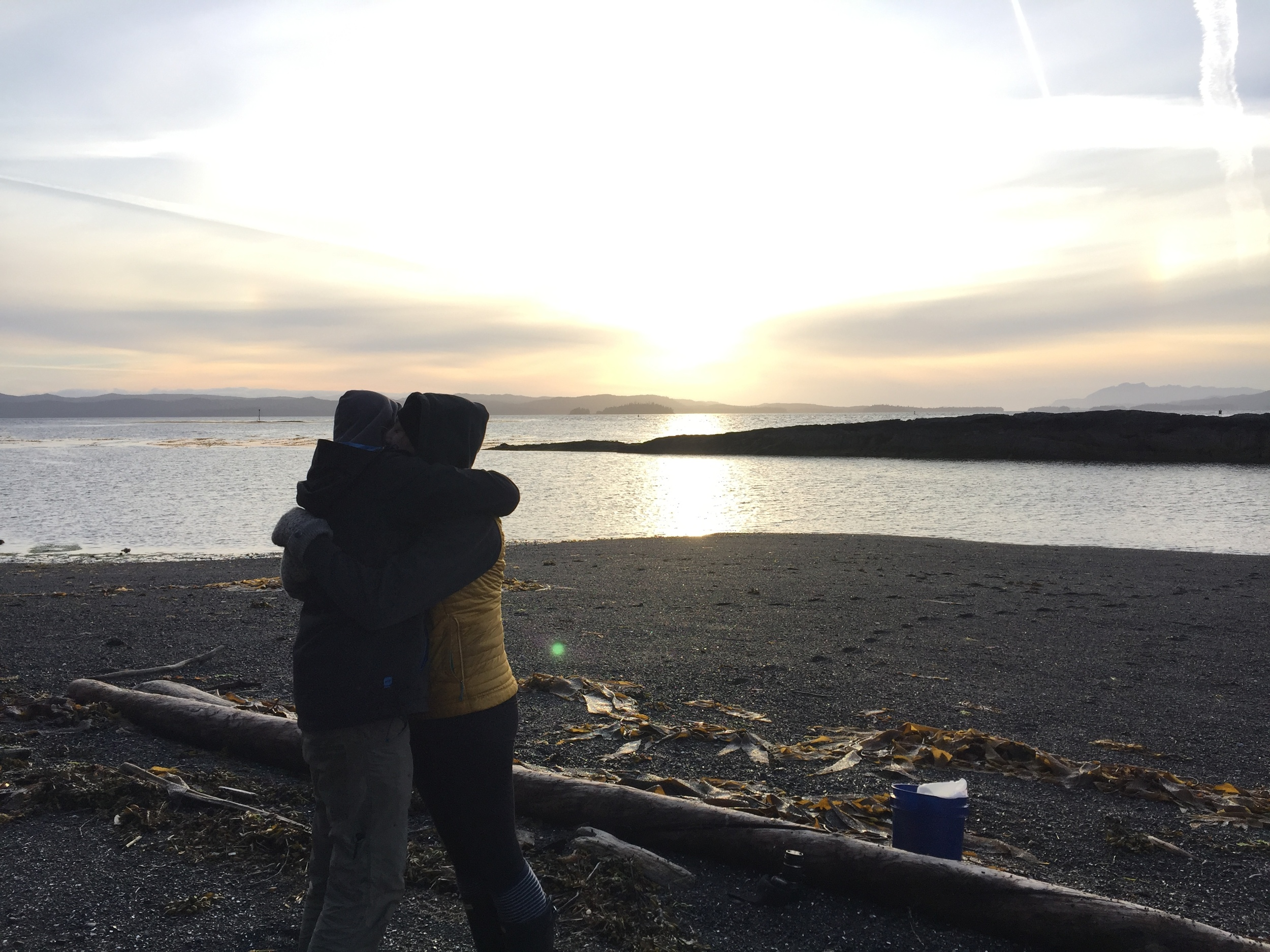 Cuteness at sunset (Madelaine and Kyle)