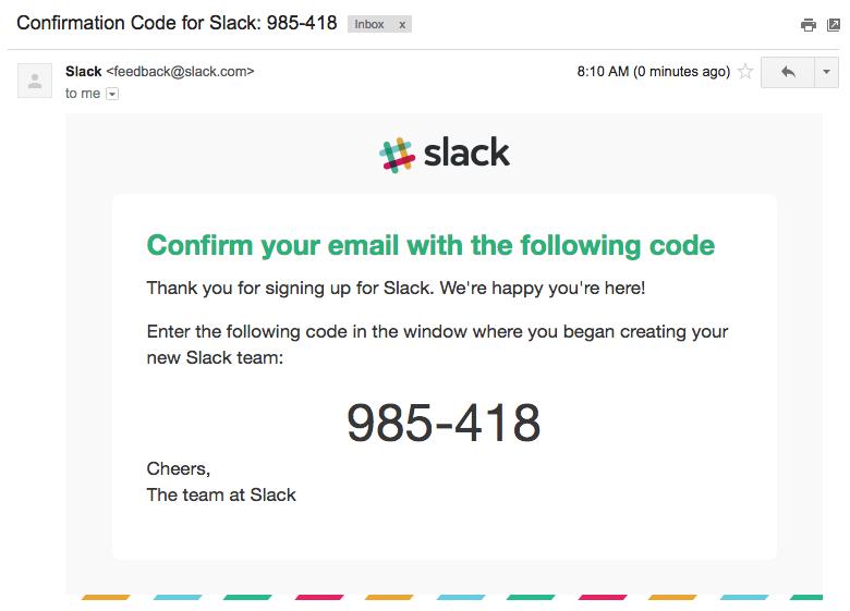 Slack email validation code