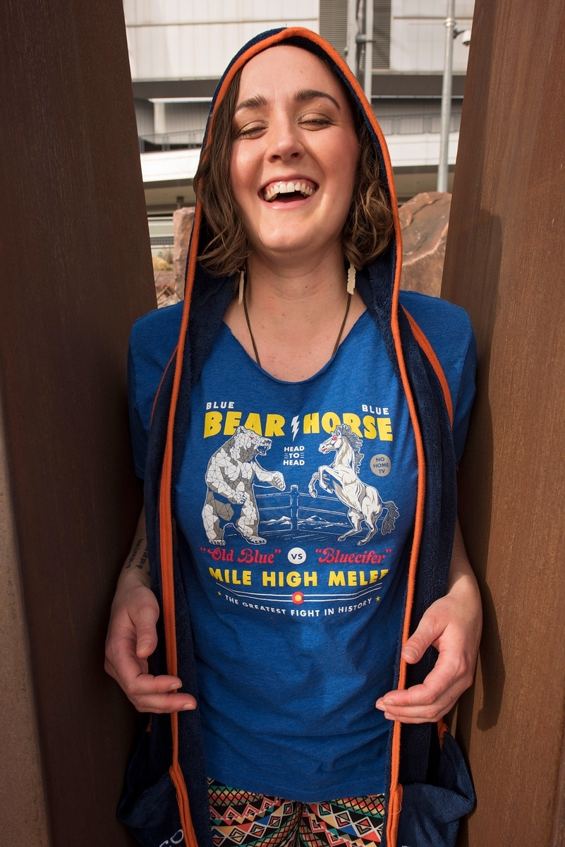 I buy awesome Colorado Proud t-shirts from brew festivals.    Photo credit  Britt Nemeth Photography