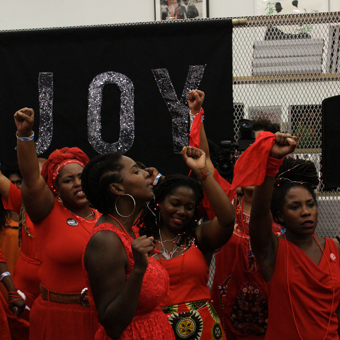 Black Women Artists for Black Lives Matter at the New Museum (photo by Madeleine Hunt Ehrlich)