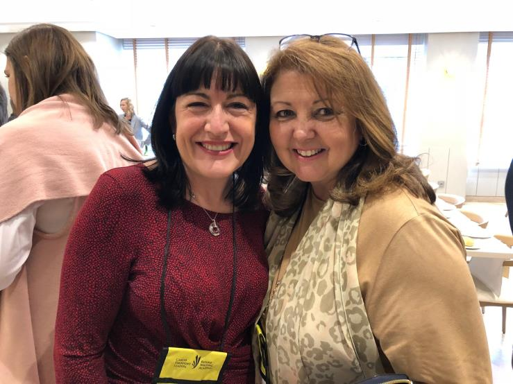 Linda with UK Coaching Colleague