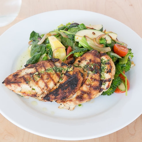 Grilled Marinated Chicken Salad