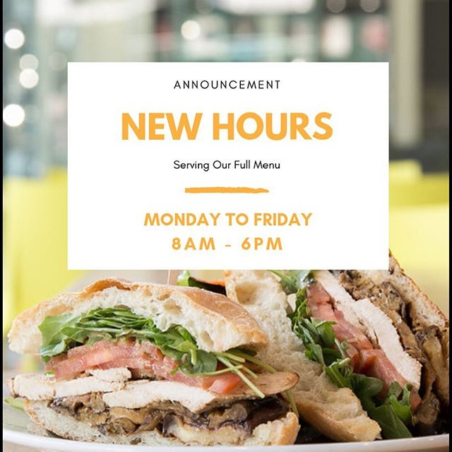 New Hours at Ciabatta Bar!! 8am to 6pm Monday - Friday #italian #hollywoodcafe #hollywoodeats #ciabattabread