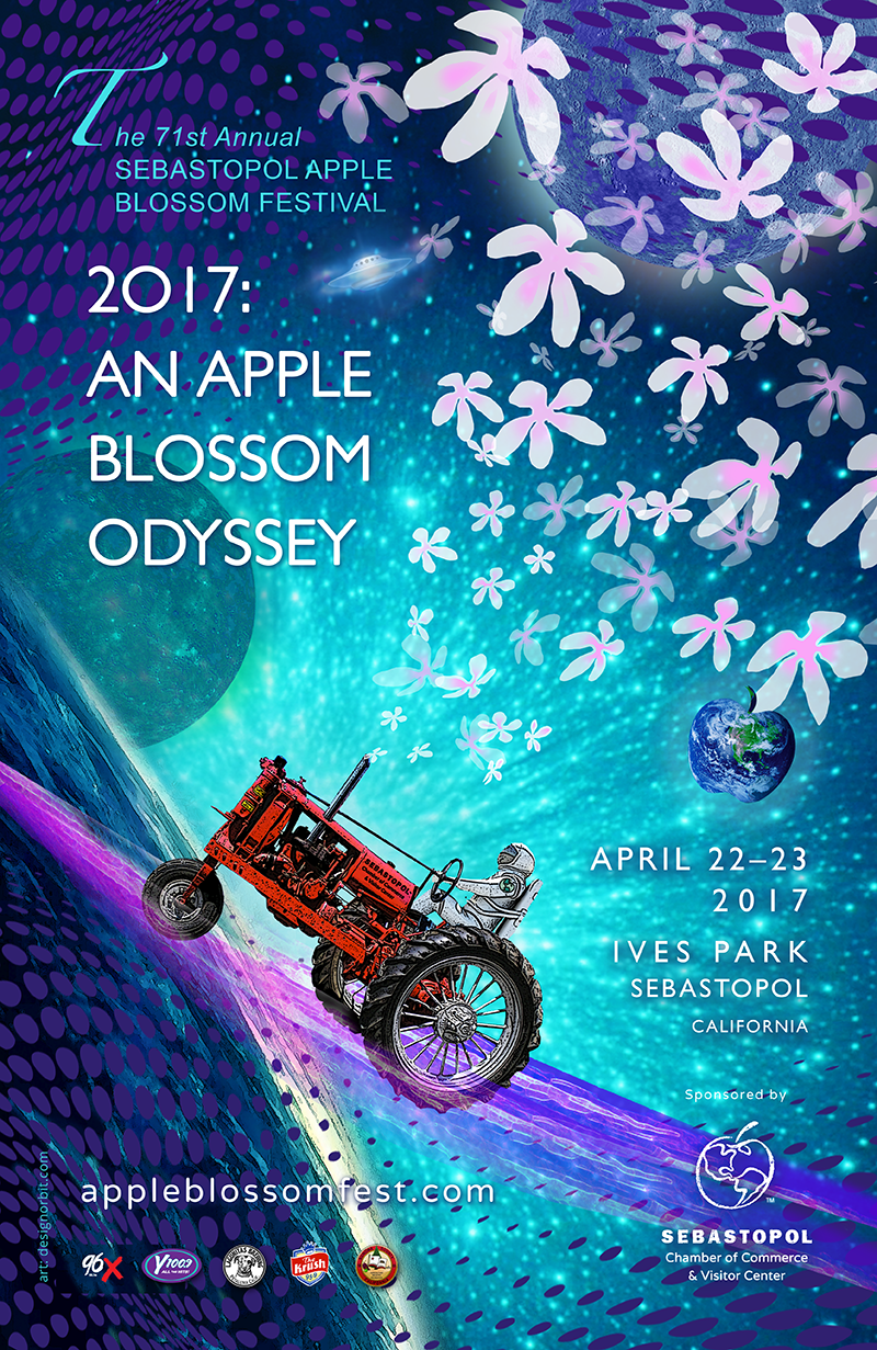 2017 Sebastopol Apple Blossom Poster art