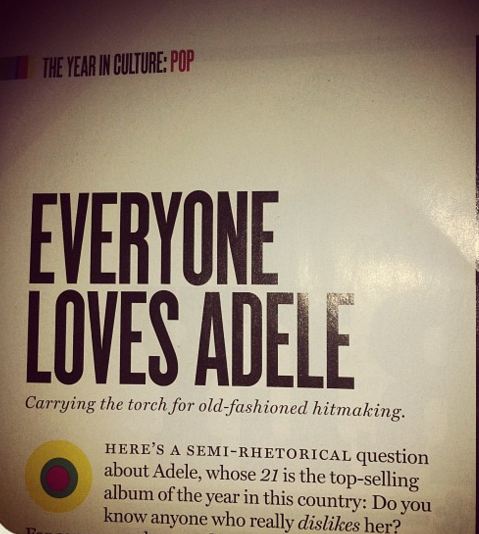 New York Magazine article, a couple of years ago