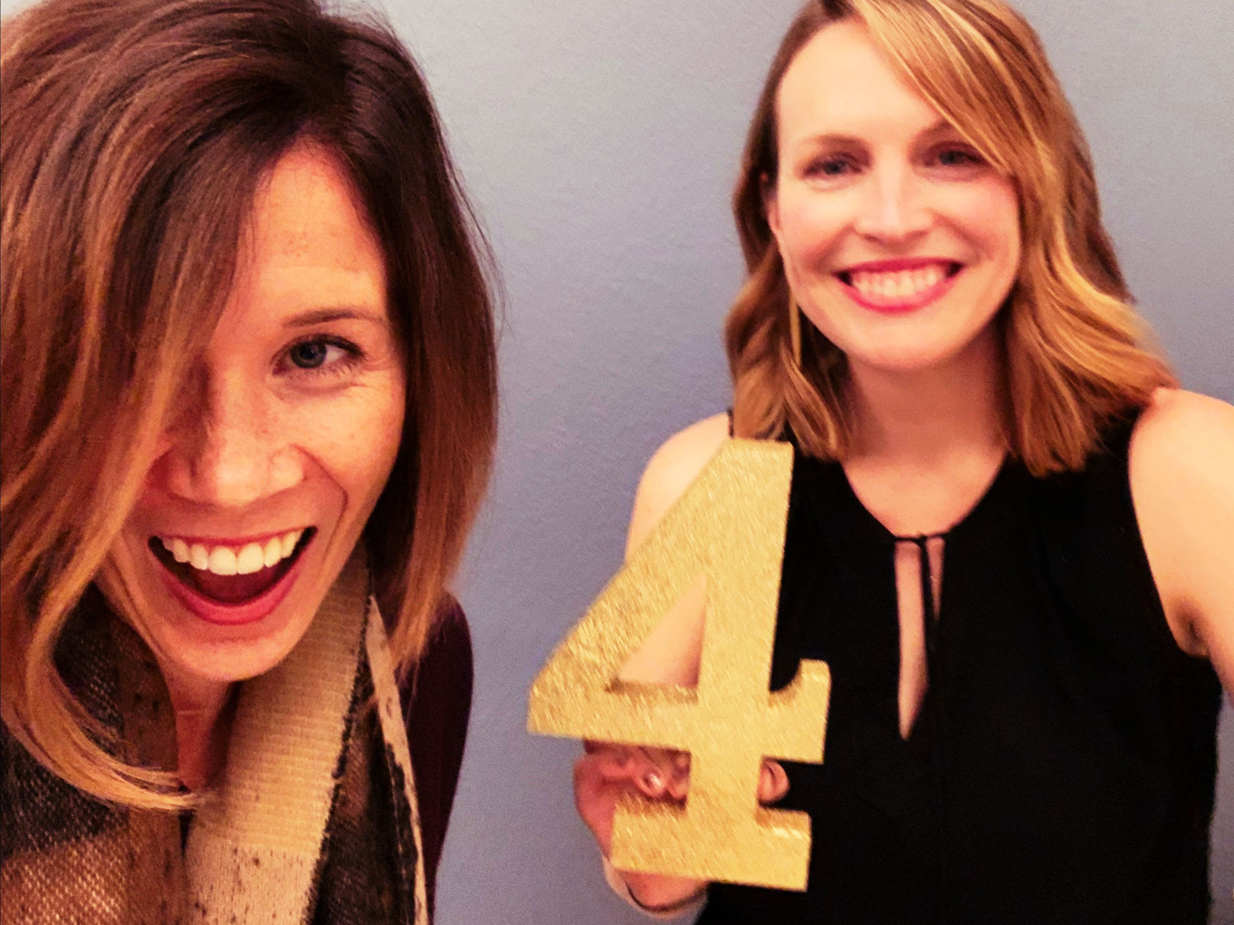 Sound co-owners, Jody Vaynshtok, MS, CCC-SLP and Melissa Beer, AuD, FAAA celebrating 4 years!