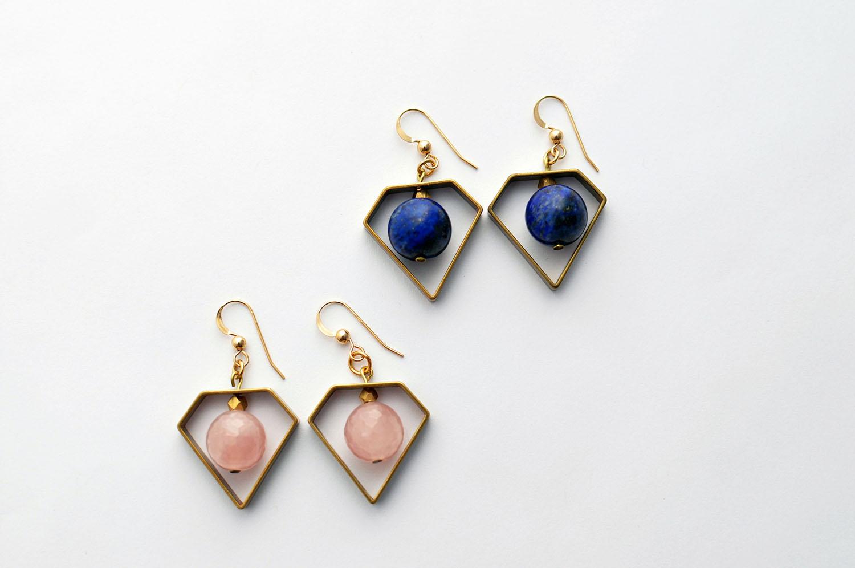 KonoandSono.com Handmade Globe Earrings
