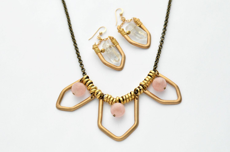 KonoandSono.com Handcrafted Geo Jewelry
