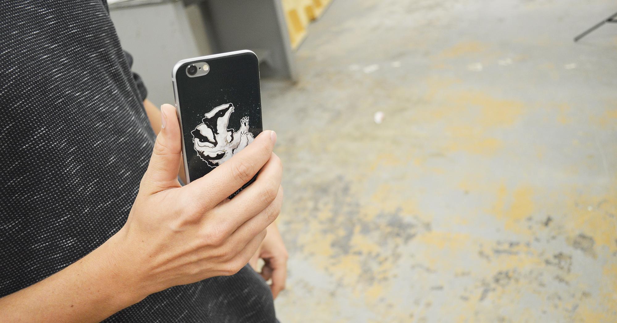 Space Badger Phone Skin