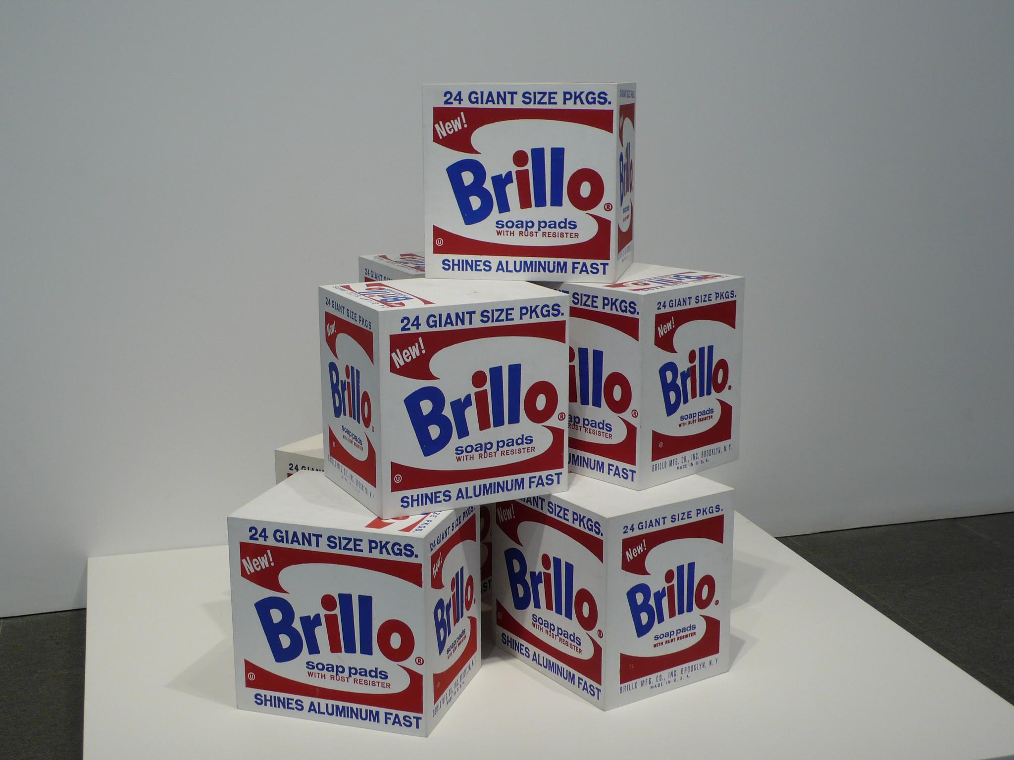 Andy Warhol, Brillo Box (Soap Pads), 1964. Photograph by  Richard Winchell .