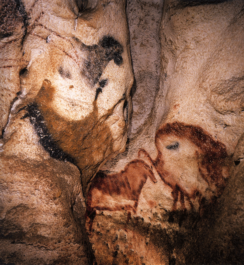 The   Upside - down Horse,  Lascaux, France. Photograph by  Sara Howson .