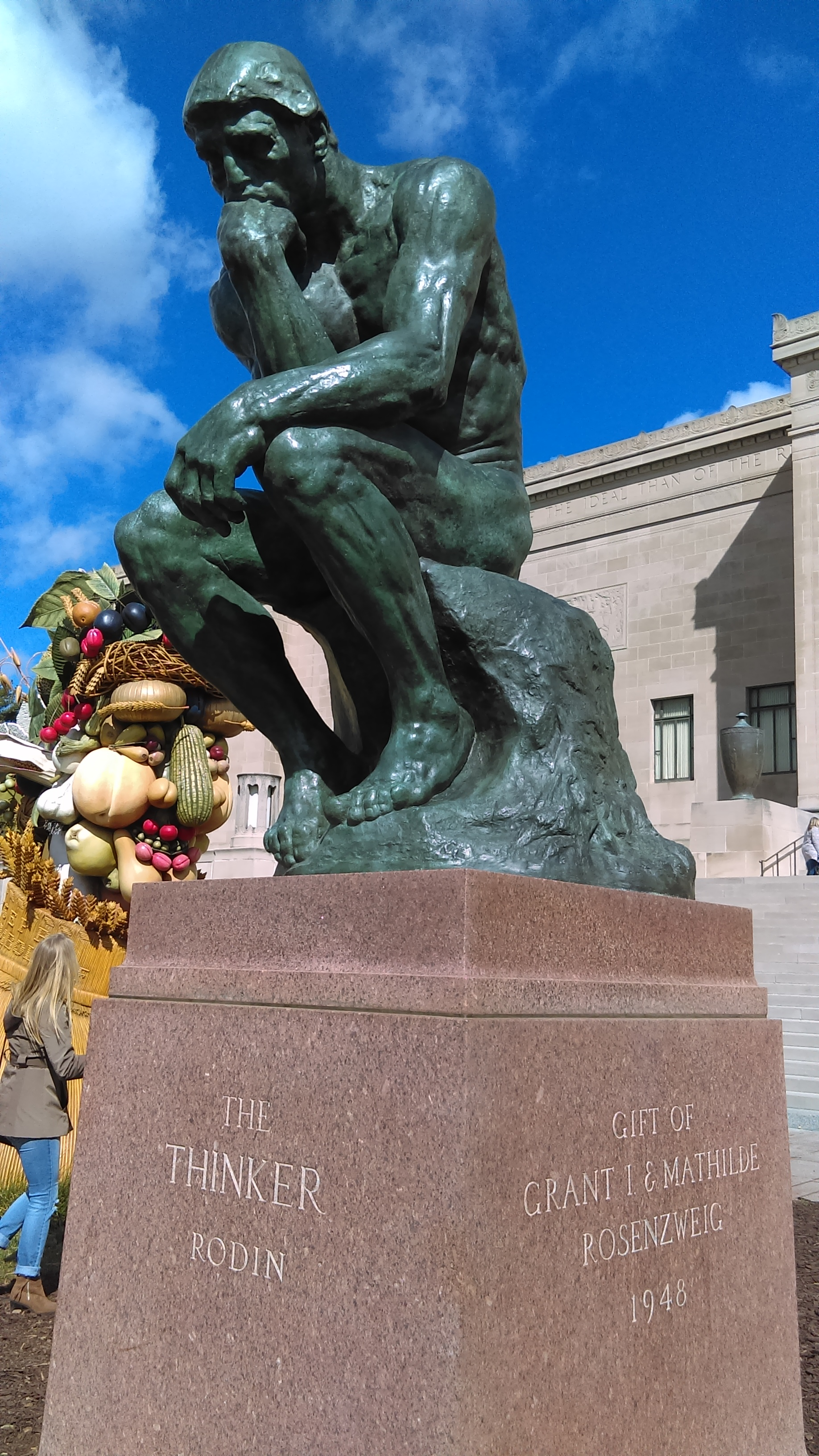 Did you know the  Nelson Atkins   Museum has one of Rodin's Thinkers?