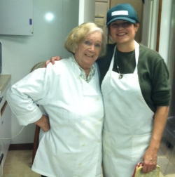 Chef Karen on the right with Gloria, one of the cooks, on the left