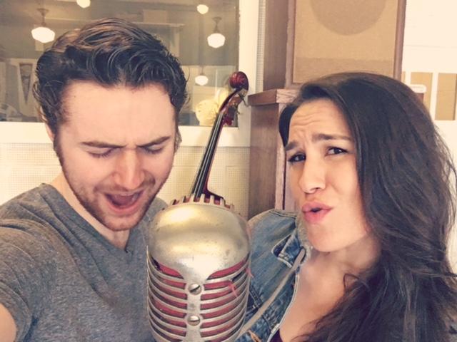 Just singing in Elvis Presley's Microphone!