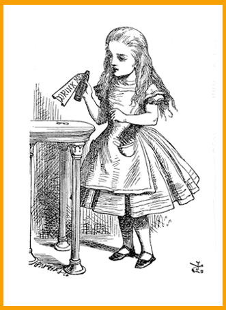 Alice in Wonderland ,Illustration by John Tenniel
