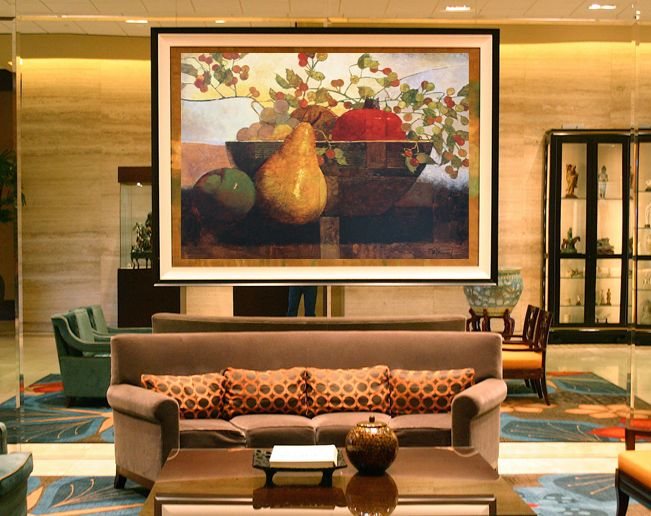 Hotel lobby  / Giclee on canvas