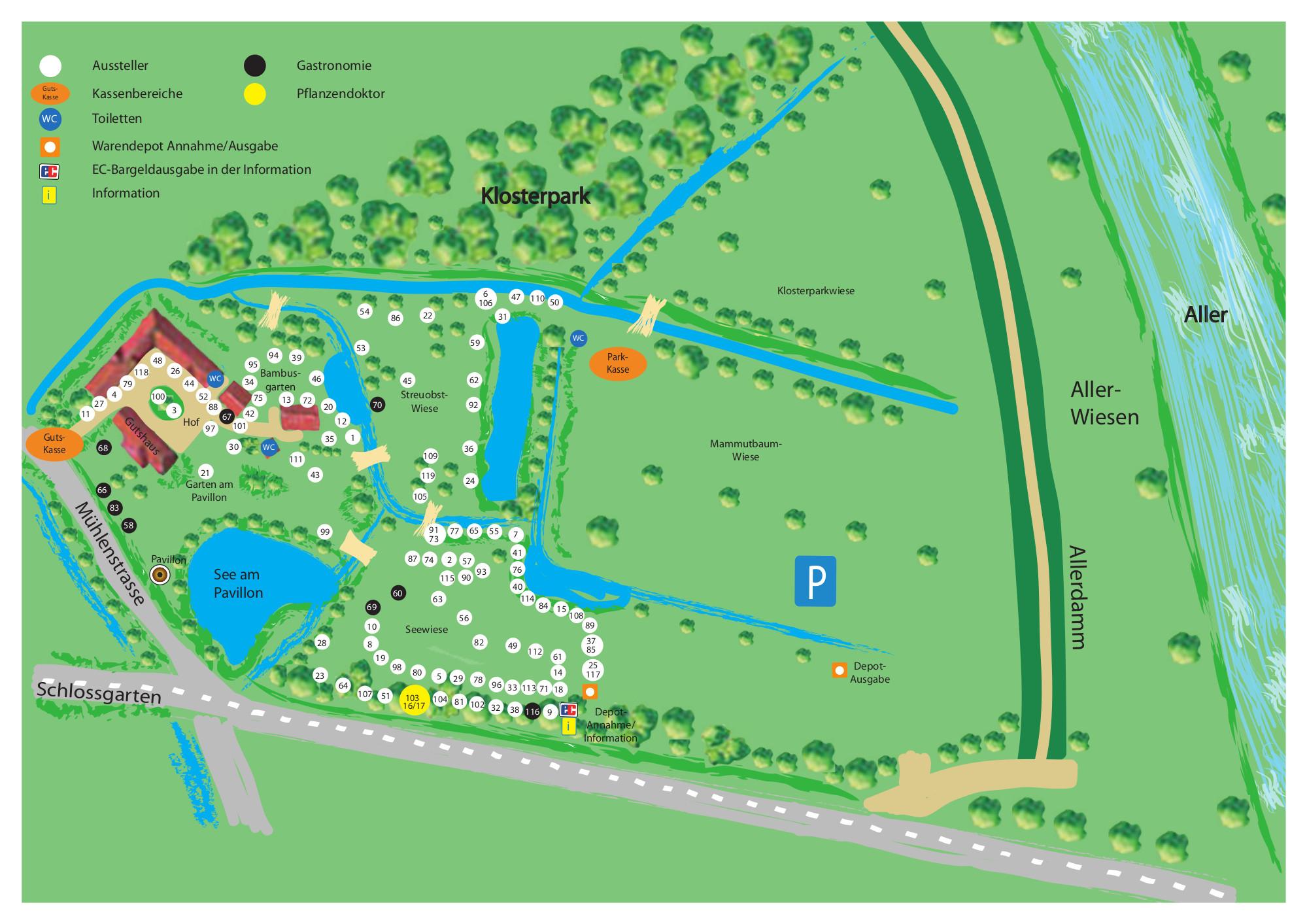 Übersicht des Klosterparks
