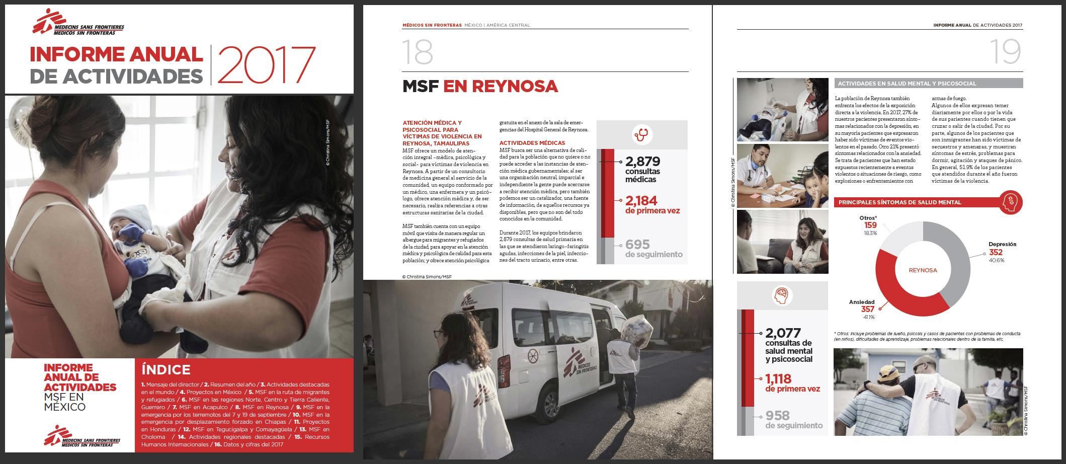 MSF (Medicos Sin Fronteras) 2017 Annual Report of Activities - P1