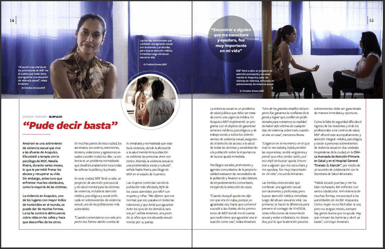 Reacciones Magazine - MSF Mexico - March 2019 - P4