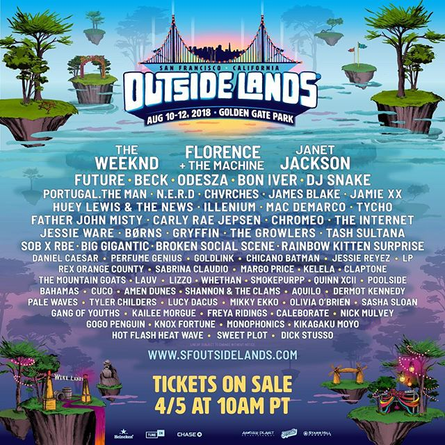 Who's going to join us in Golden Gate Park this August? We'll be giving away a 3 day pass soon. Stay tuned... @outsidelands @sfoutsidelands #outsidelands