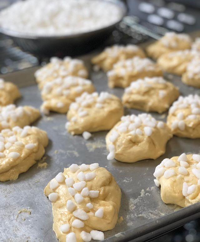 Our liege waffles are made from dough, not batter. #wafflewednesday #pearlsugar #liegewaffle #dough