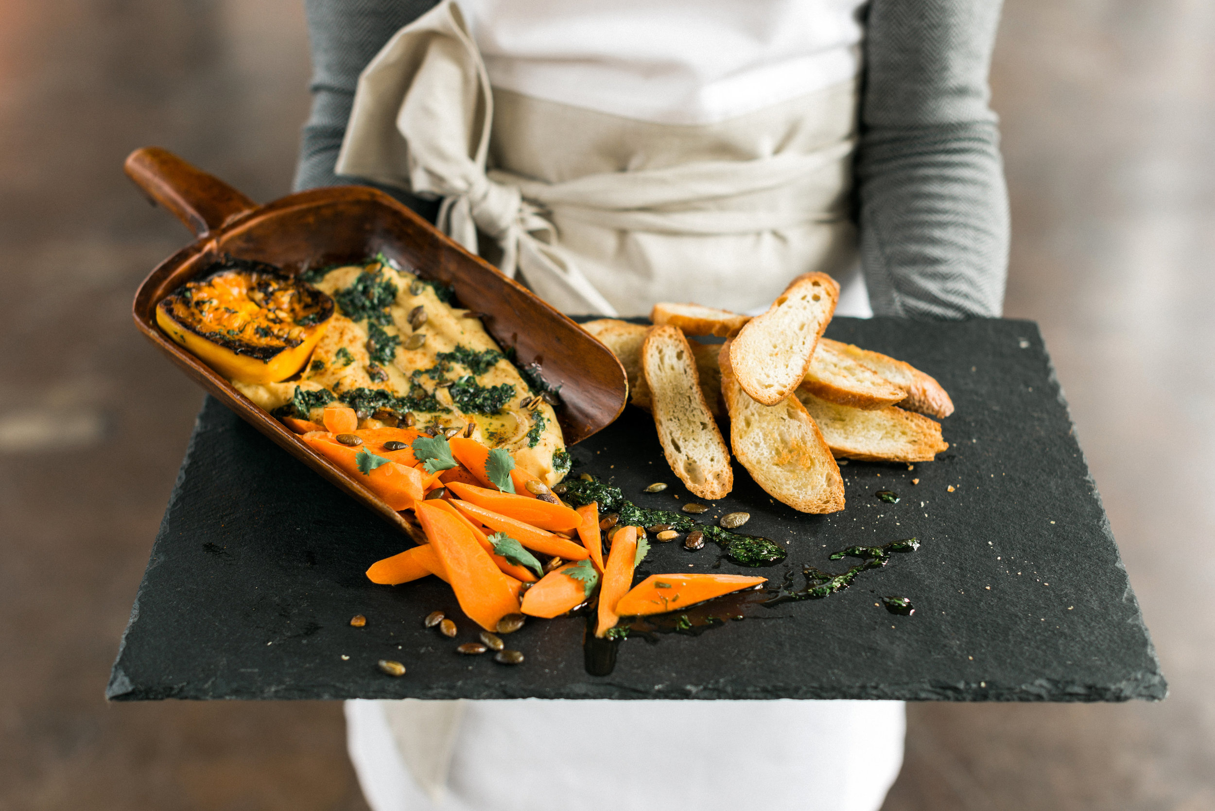 Butternut Squash Hummus Recipe by Homespun ATL+ Harvest Dinner Inspiration | Photo by Rustic White Photography