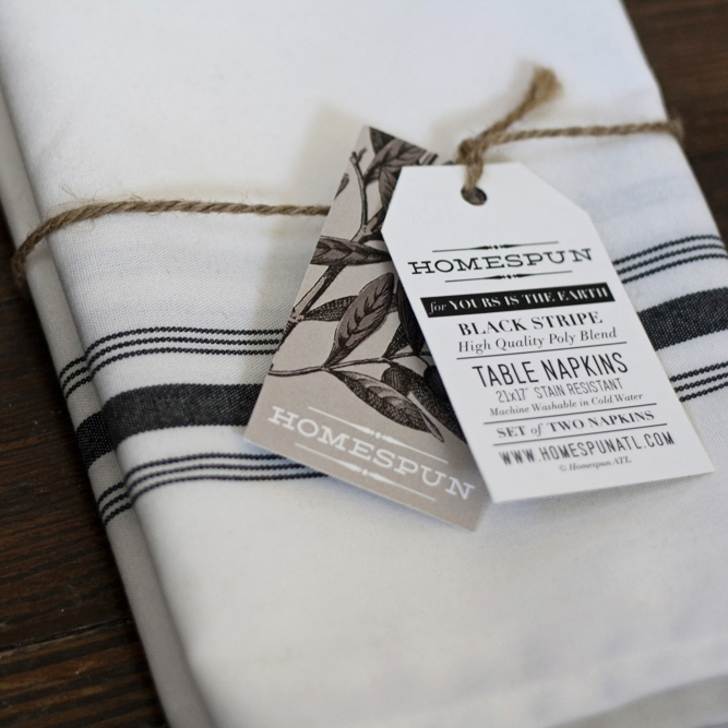 Homespun Table Napkins