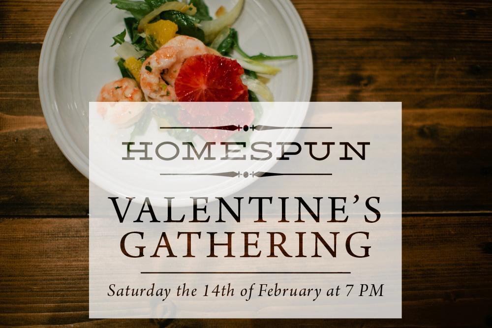 Homespun Valentine's Dinner Gathering