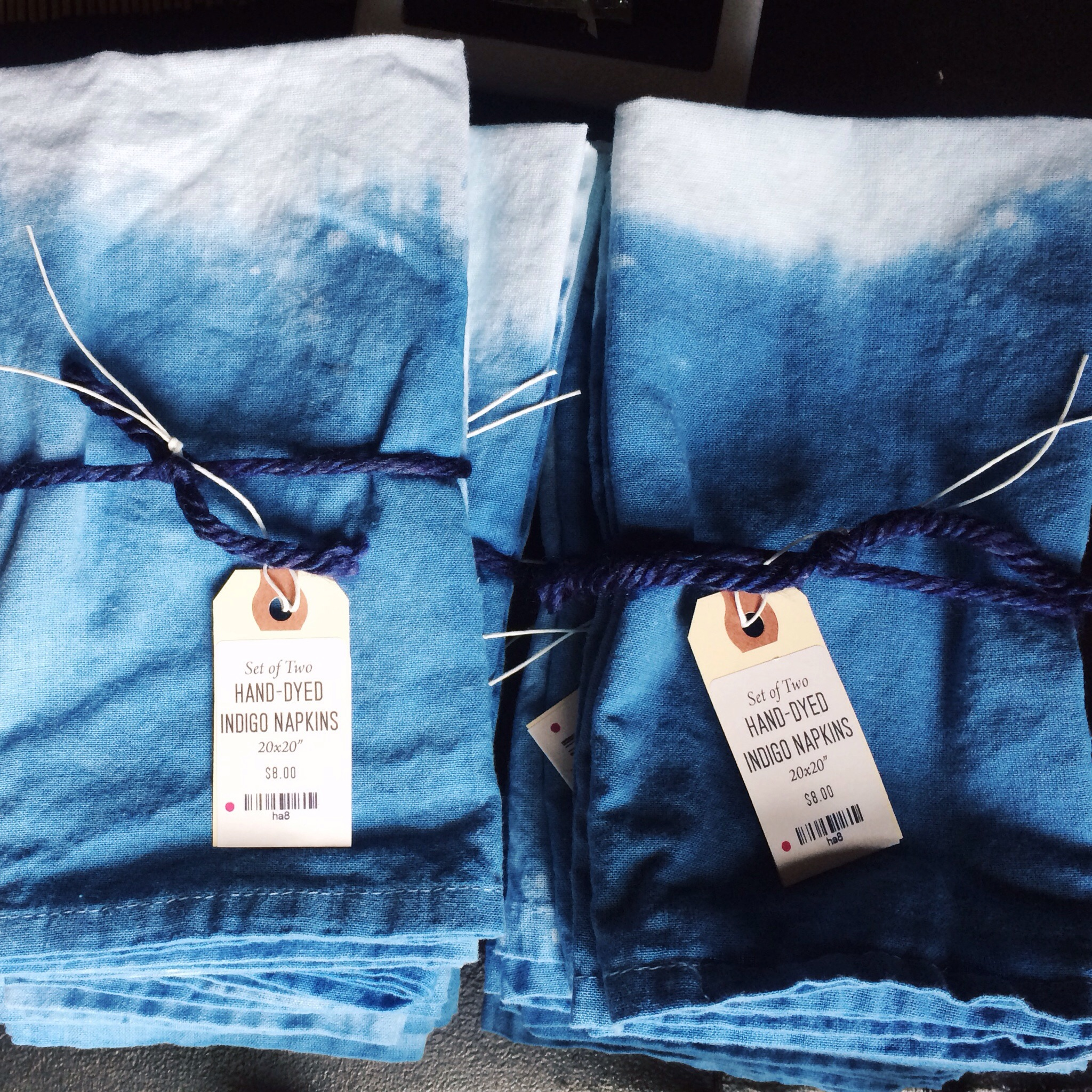 Limited Amount of Indigo Napkins will be Available