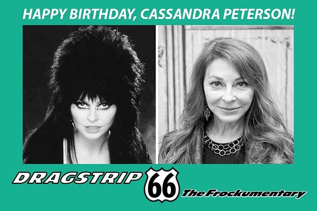 All the best to #CassandraPeterson AKA #Elvira on her birthday from #Dragstrip66 the #frockumentary. #LA #picoftheday