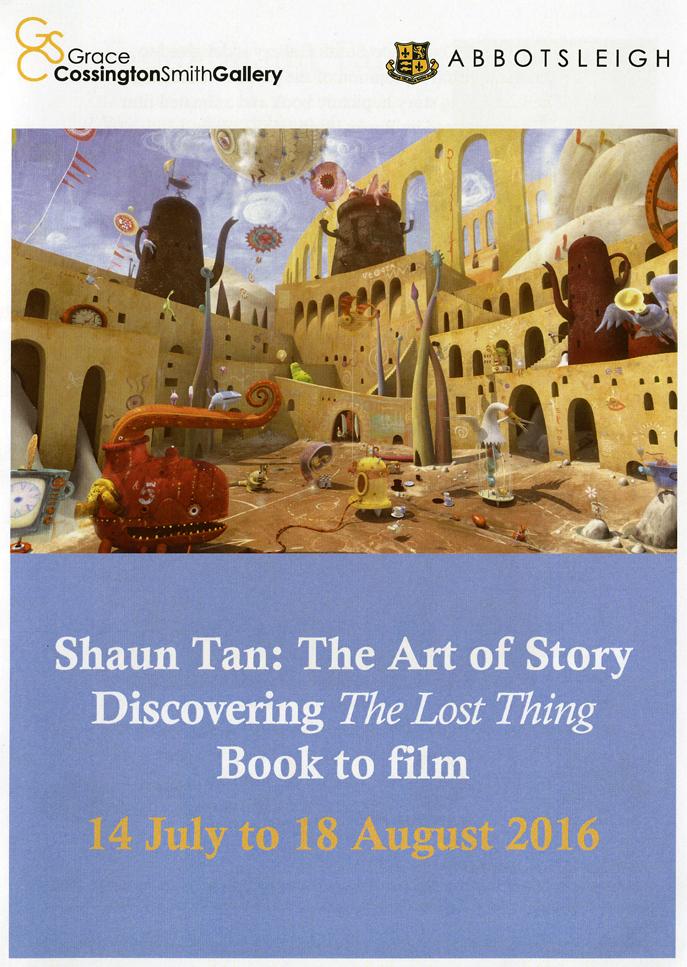 The Shaun Tan exhibition GCS Gallery catalogue front cover