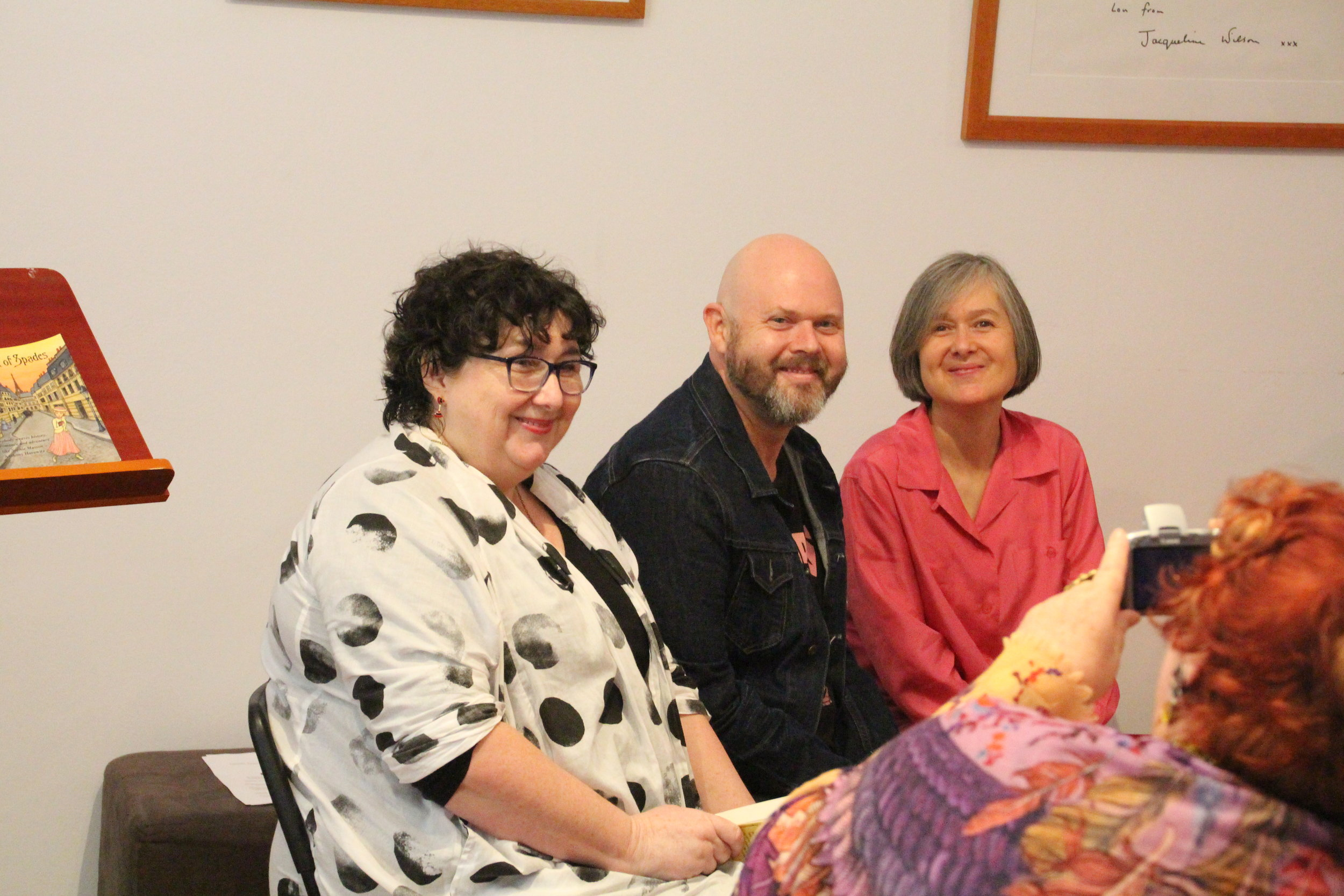 Pamela Freeman, Chris Nielsen and me.