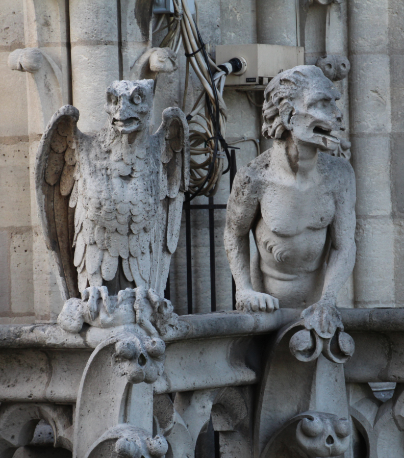 Notre-Dame gargoyles who have a great view of Paris.