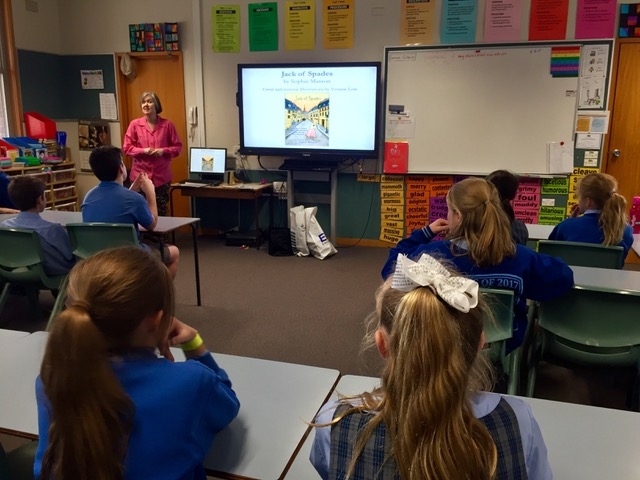 A great group of students learning about illustrating an exciting historical thriller.