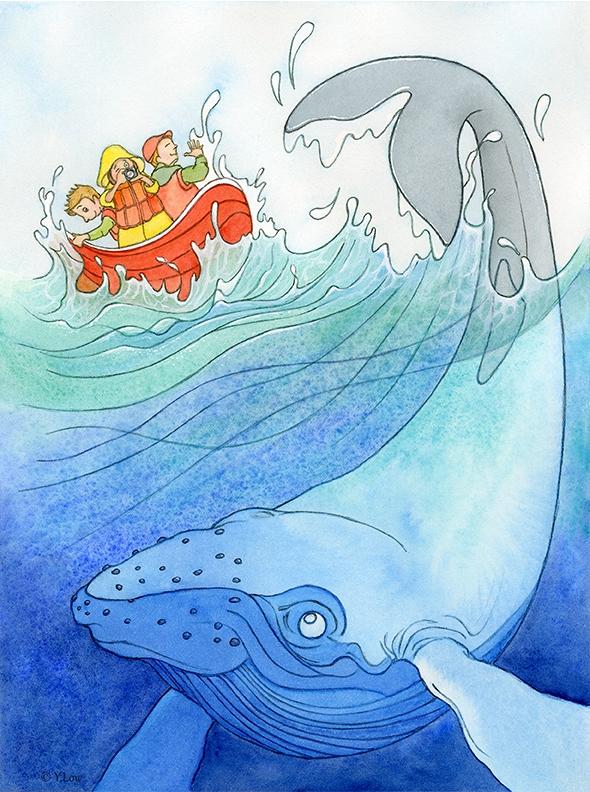 'Splash!' Whale watching...