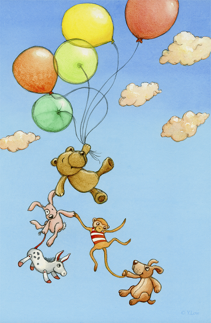 My illustration entry for 'A Fun Day Out'. The toys are going on an adventure of their own, for a fun day out.