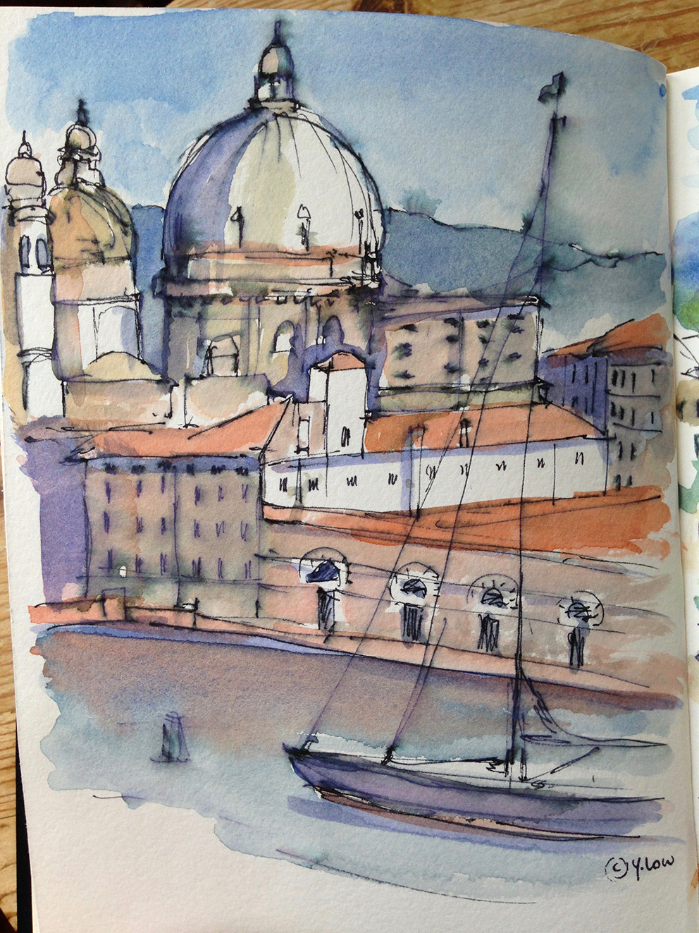 Here are some of my sketches today - this one's Venice.