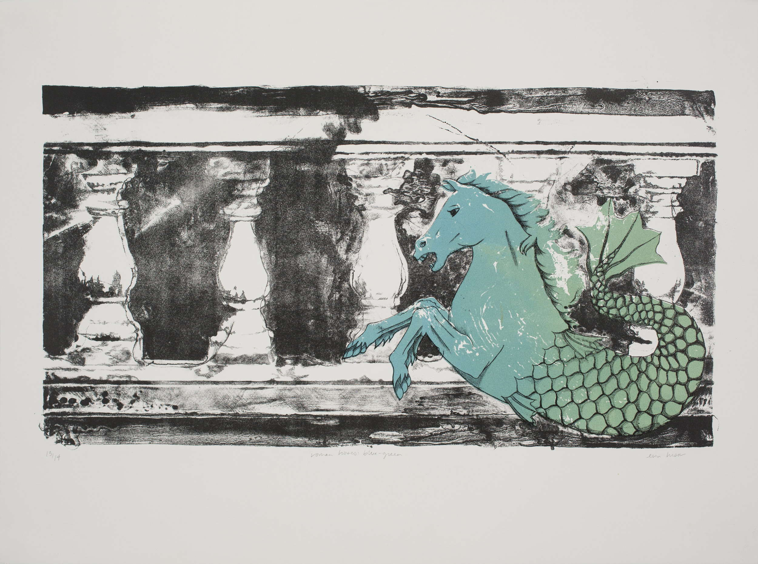 Roman Horses: Blue-Green