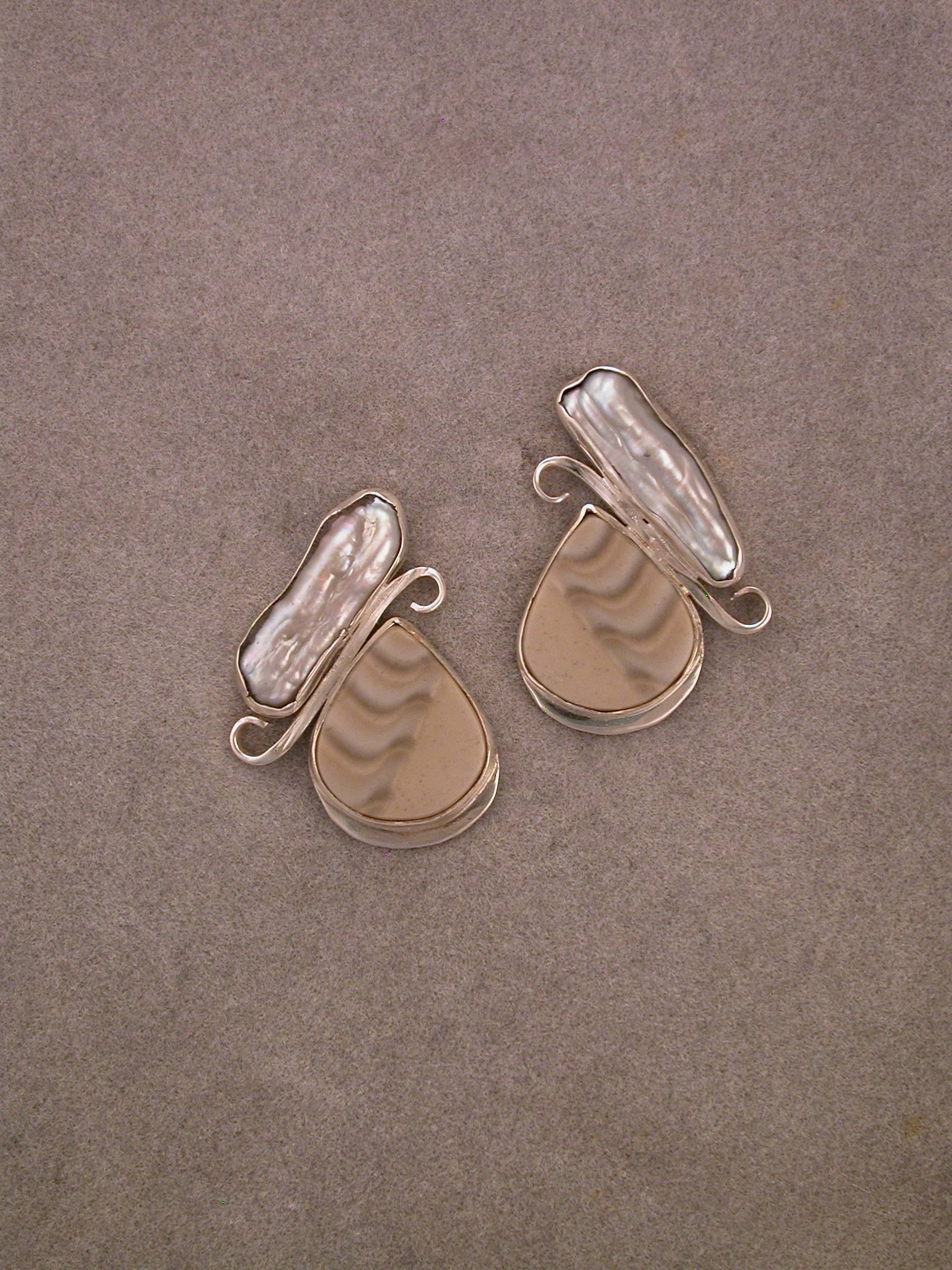 Polish Flint Earrings  Polish Flint Earrings