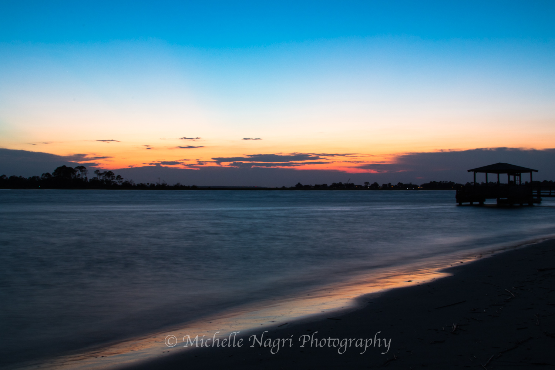 Tybee Island, GA just after sunset.