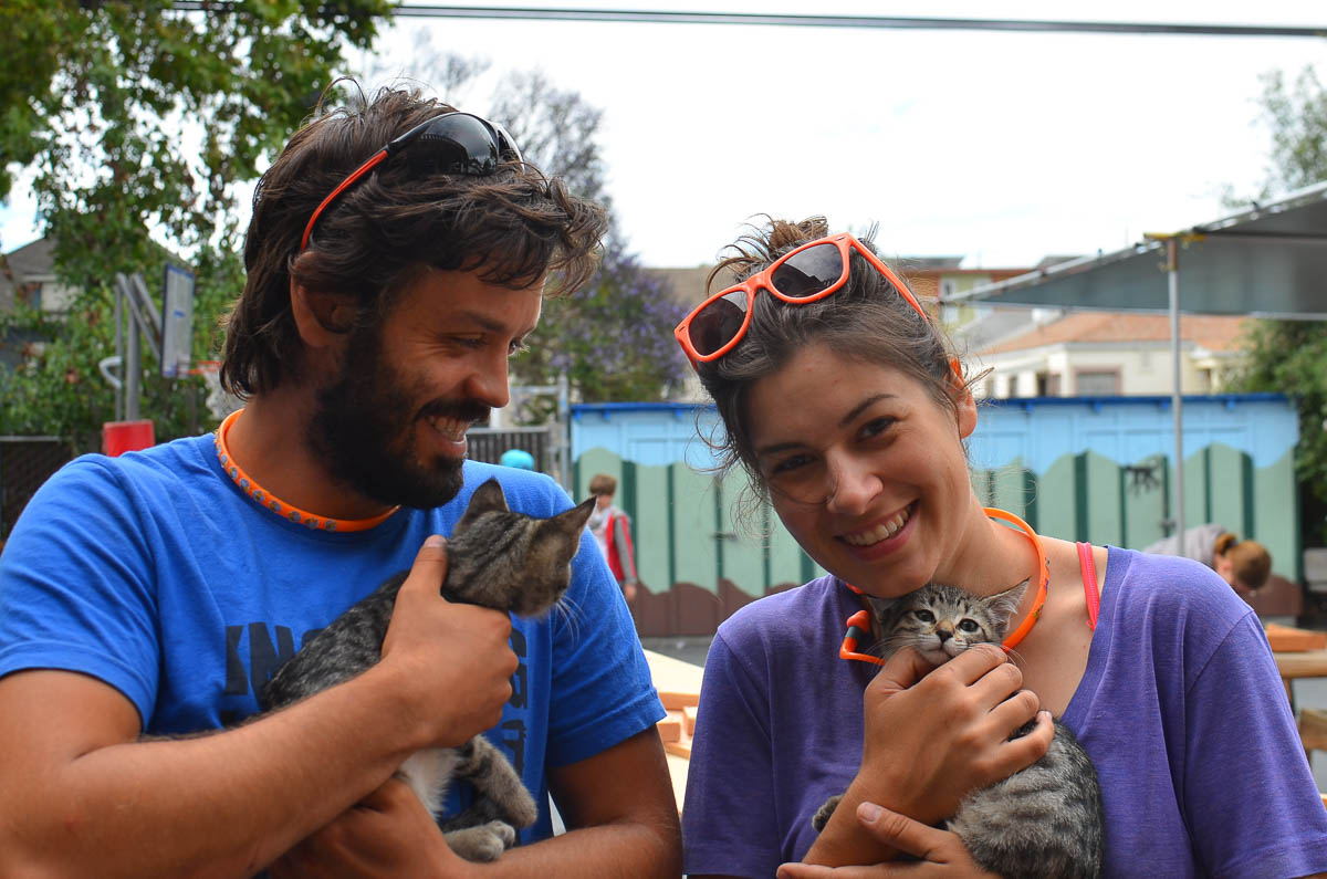 A couple of cute, furry friends came to say a surprise hello to our Camp Directors!
