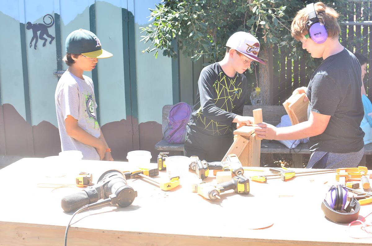 Ry, Jeffrey and Gabe create a reptilian ringleader.