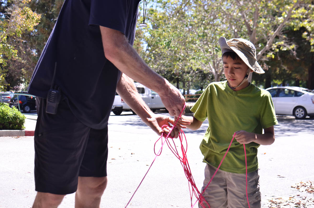 Lucas A takes on his own challenge with a length tangled parachord