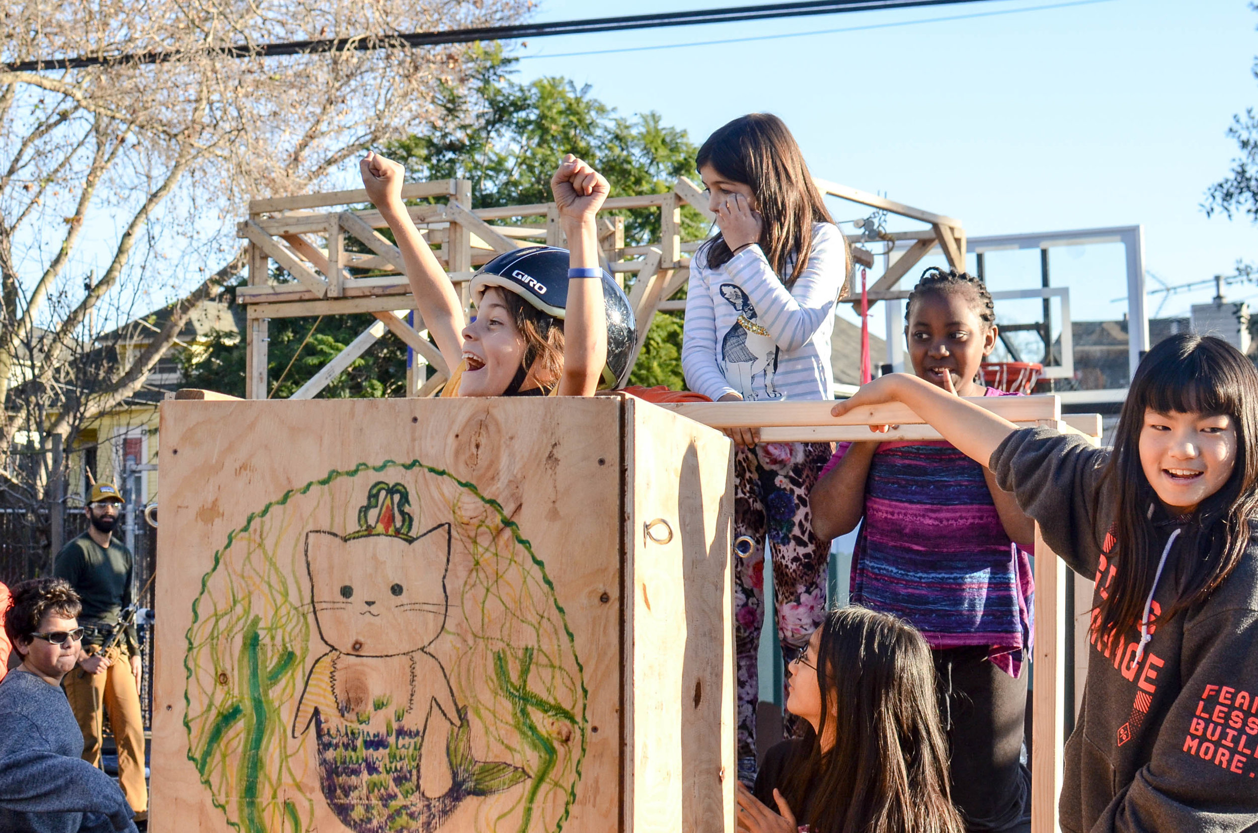 Kids build the Port of Oakland