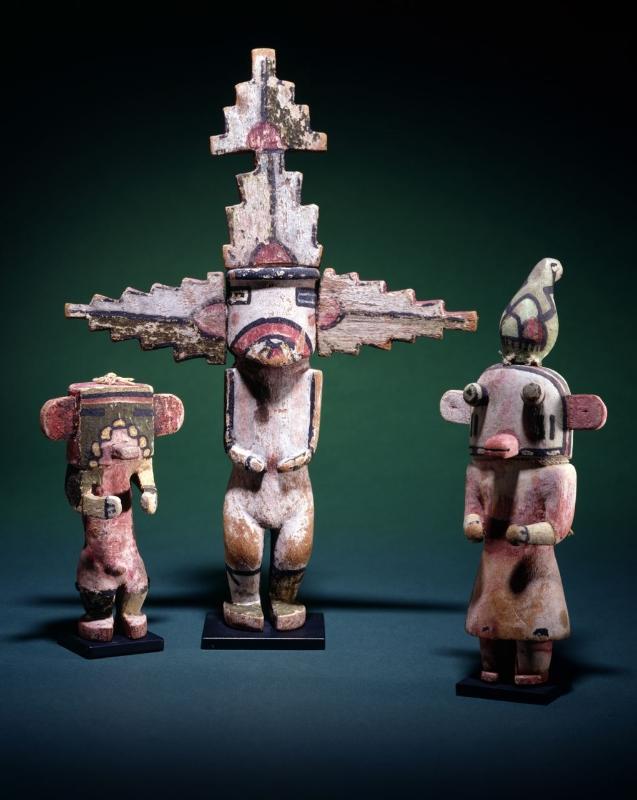 3 Hopi Pueblo Kachina Dolls