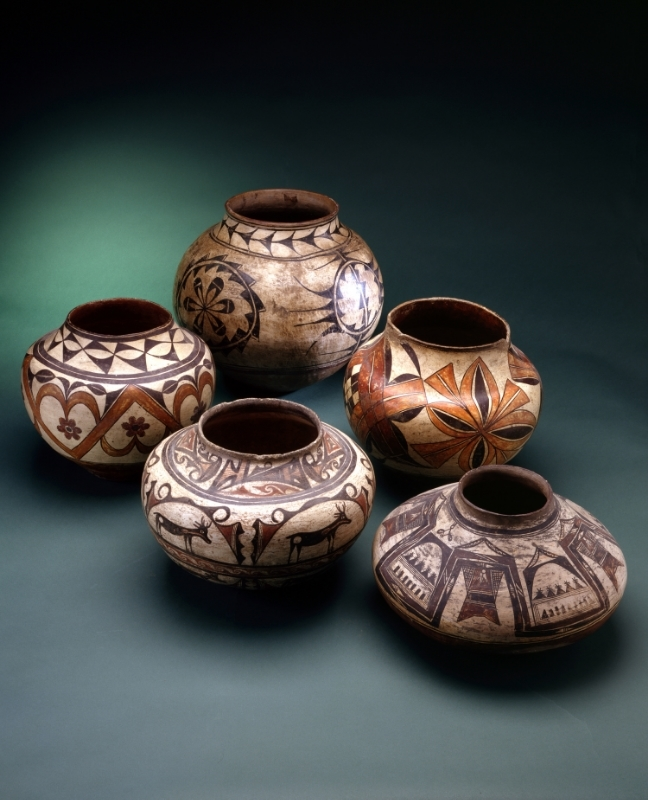 Group of Historic Pueblo Pottery