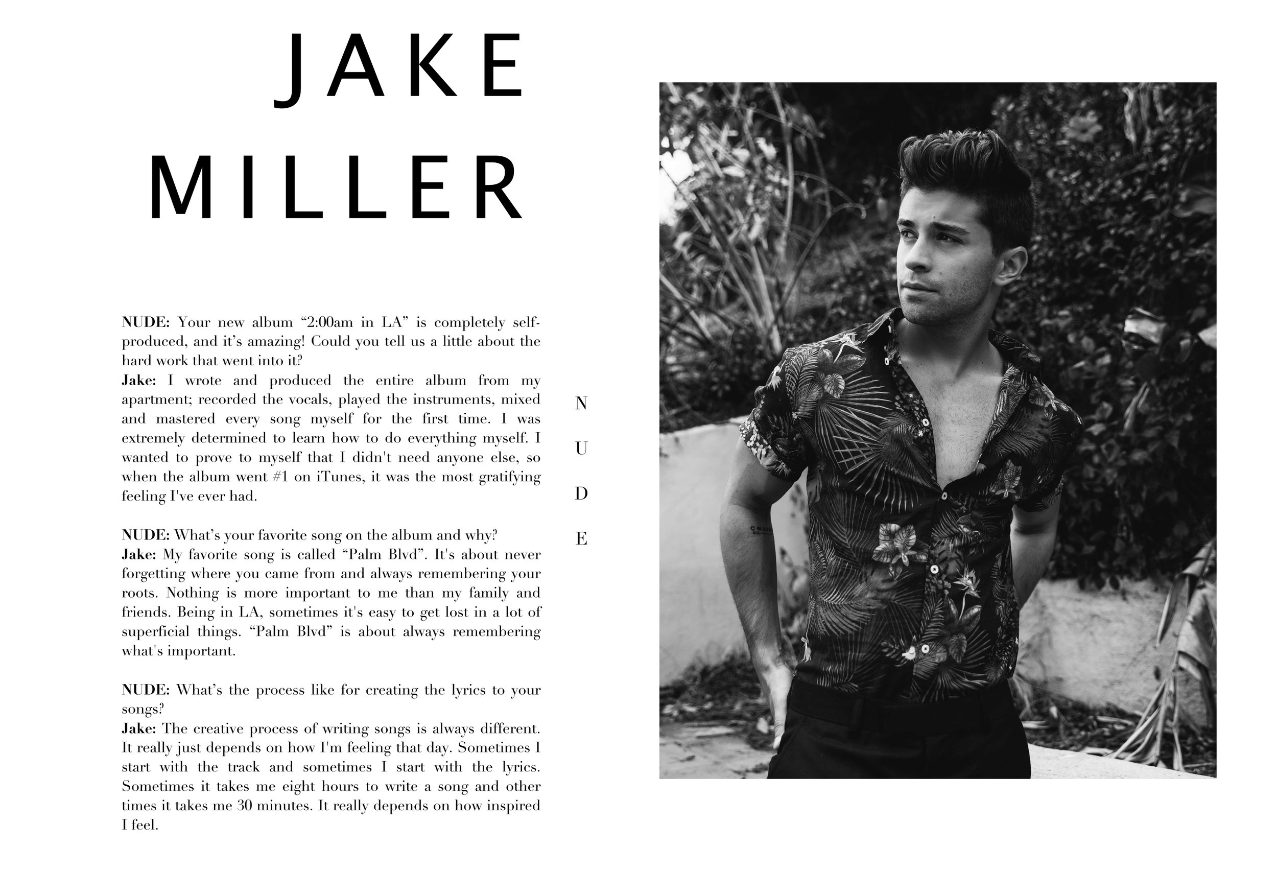Jake Miller for Nude Magazine