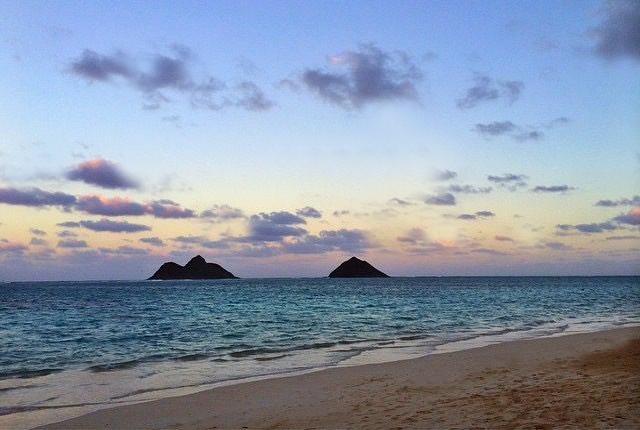 LANIKAI BEACH, the twin Mokulua Islands