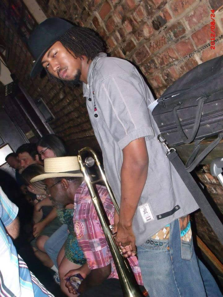 Suavo J  is a multitalented artist that was born & raised in the home Of the Blues. Mostly known for how he plays trombone, but he can easily come out with a smooth Hip Hop flow.  Played trombone on Ready For Love. One of the greatest entertainers around.